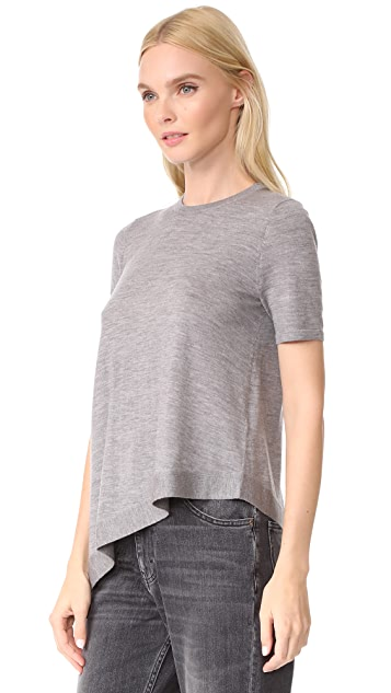 Pringle of Scotland Asymmetrical Short Sleeve Sweater