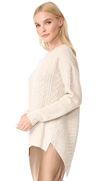 Pringle of Scotland Long Sleeve Asymmetrical Sweater