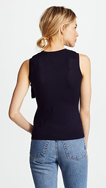 Pringle of Scotland Sleeveless Frill Top