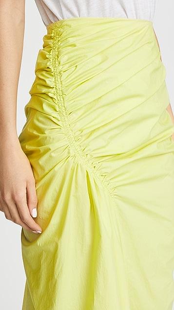 Pringle of Scotland Gathered Poplin Skirt