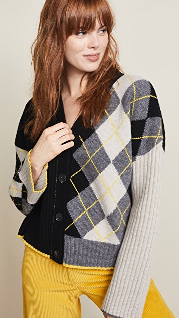 Pringle of Scotland Argyle Rib Cardigan