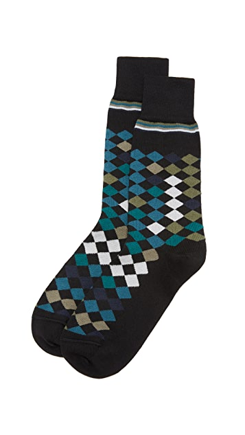 Paul Smith Falling Diamond Socks