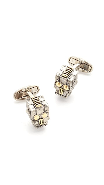 Paul Smith Robot Skull Cufflinks