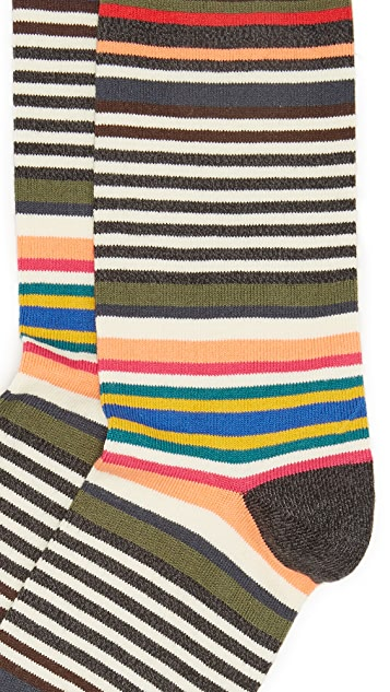 Paul Smith Twisted Bright Stripe Socks