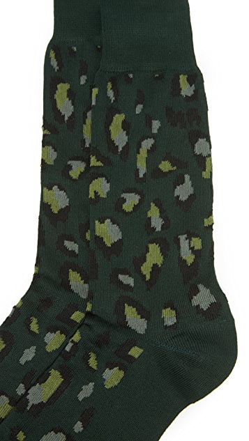 Paul Smith Camo Leopard Socks