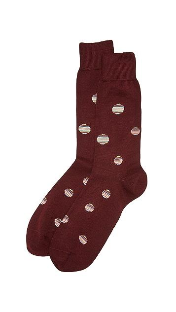 Paul Smith Multistripe Polka Dot Socks