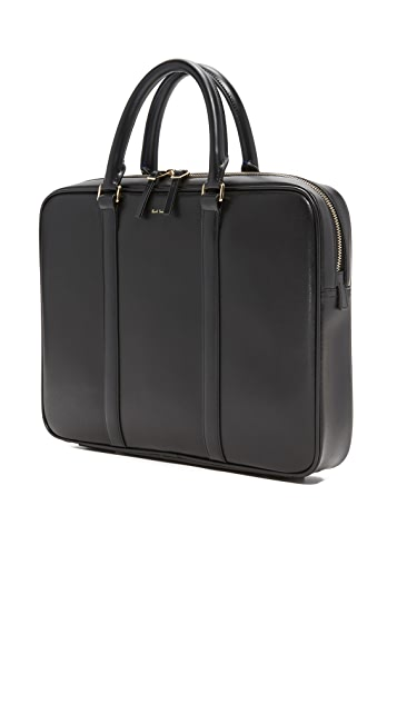 Paul Smith City Emboss Leather Briefcase