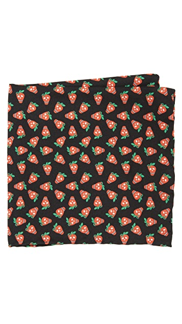 Paul Smith Mini Strawberry Pocket Square