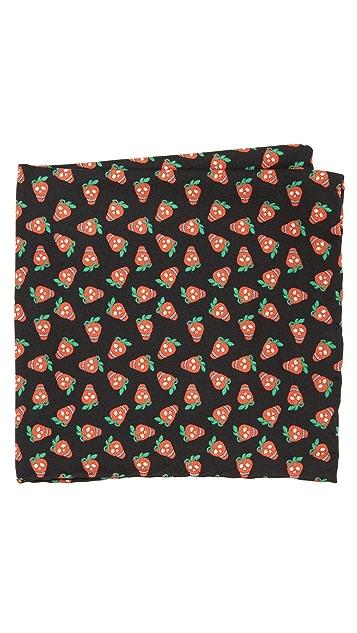 Paul Smith Mini Strawberry Pocket Square