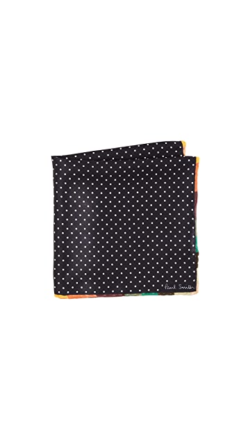 Paul Smith Artist Edge Pin Dot Pocket Square