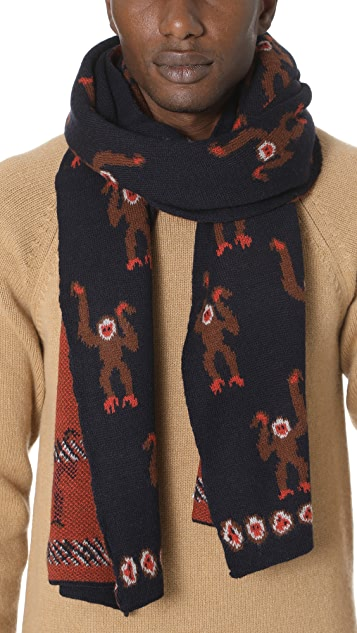 Paul Smith Monkey Scarf
