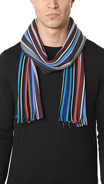 Paul Smith Lacey Stripe Scarf