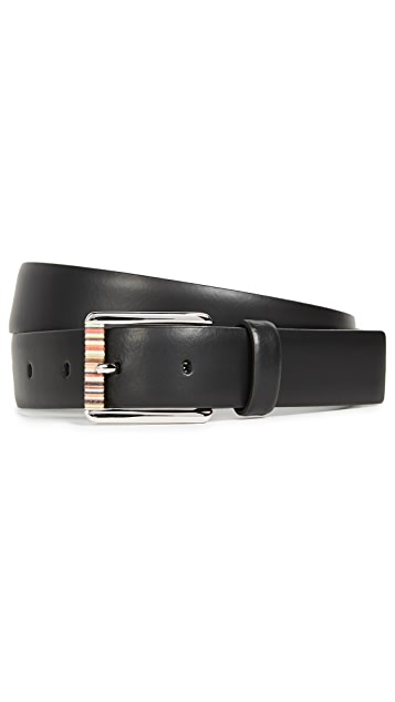 Paul Smith Multistripe Leather Roller Belt