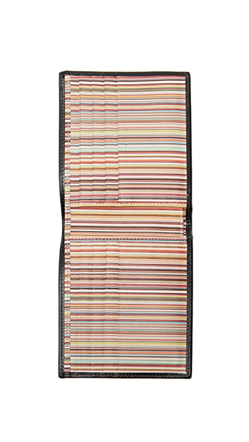 Paul Smith Interior Multi Stripe Wallet
