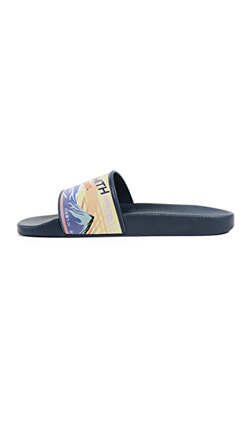 Paul Smith Blue Mackeral Print Ruben Slide