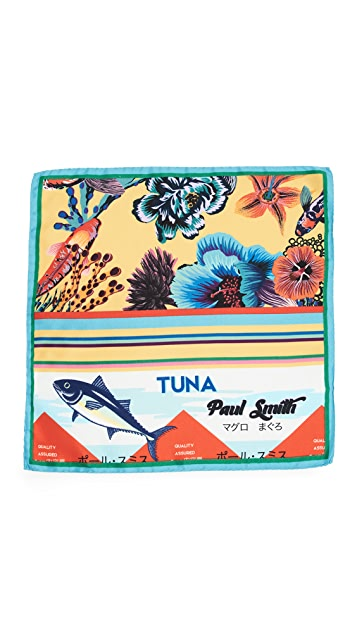 Paul Smith Hawaiian Yellow Koi Pocket Square