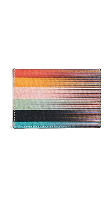 Paul Smith Artist Stripe Credit Card Case