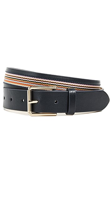 Paul Smith Multistripe Trim Detail Belt
