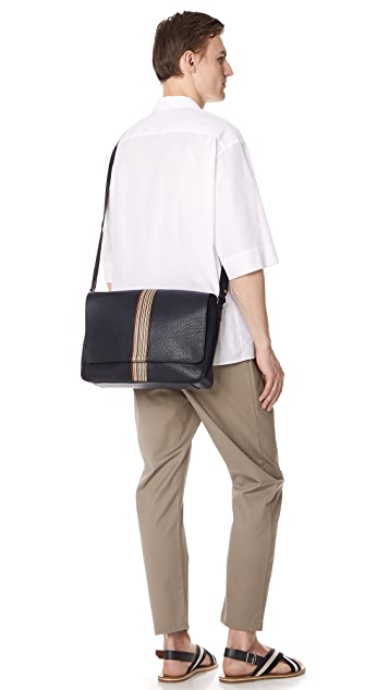 Paul Smith Multistripe Webbing Messenger