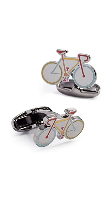 Paul Smith Enamel Bike Cufflinks