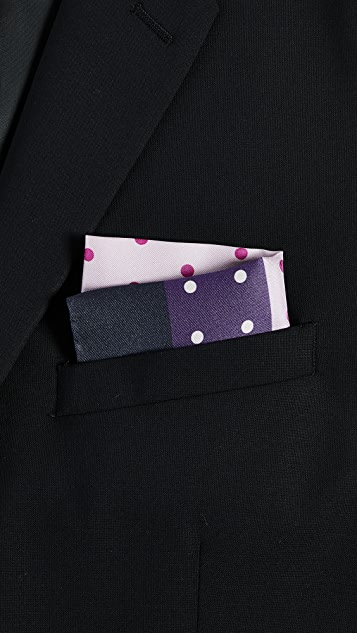 Paul Smith Polka Pocket Square