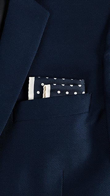 Paul Smith Ecru Polka Pocket Square