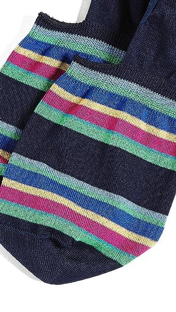 Paul Smith Kem Stripe No Show Socks