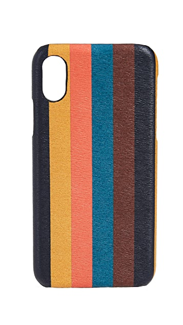 Paul Smith Bright Stripe iPhone X Case