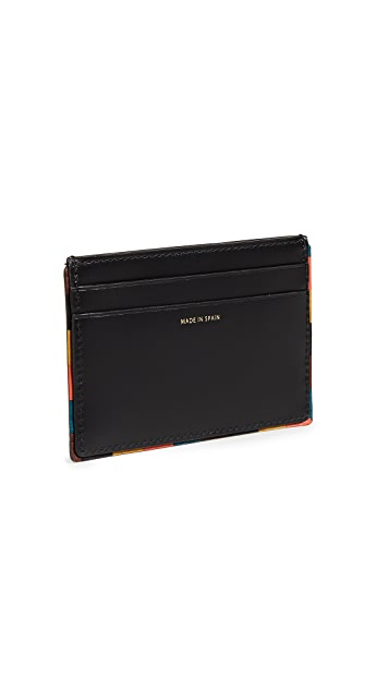 Paul Smith Striped Edge Credit Card Case