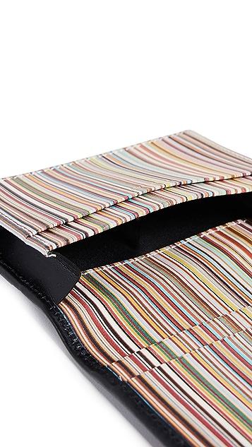 Paul Smith Interior Multistripe Fold Over Card Case
