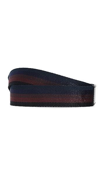 Paul Smith Stripe Webbing Belt