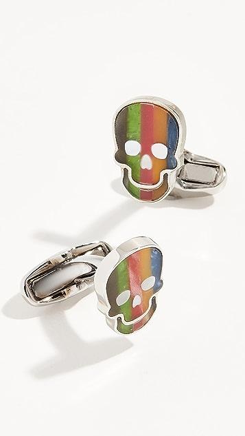 Paul Smith Stripe Skull Cufflinks