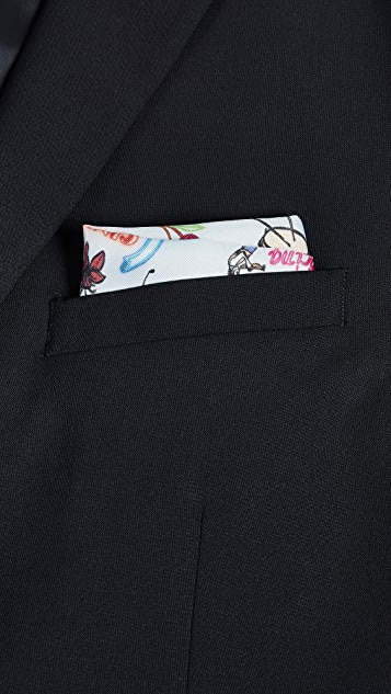 Paul Smith Mainline Music Pocket Square