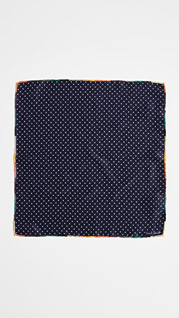 Paul Smith Artist Stripe Edge Pocket Square