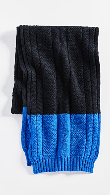 Paul Smith Cable Highlight Scarf