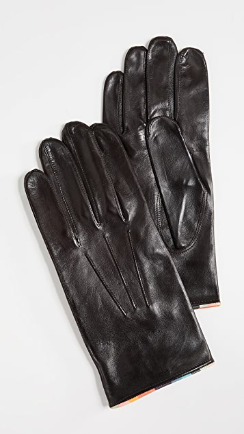 Paul Smith Striped Piping Gloves