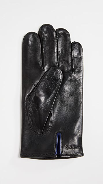 Paul Smith Plain Leather Gloves