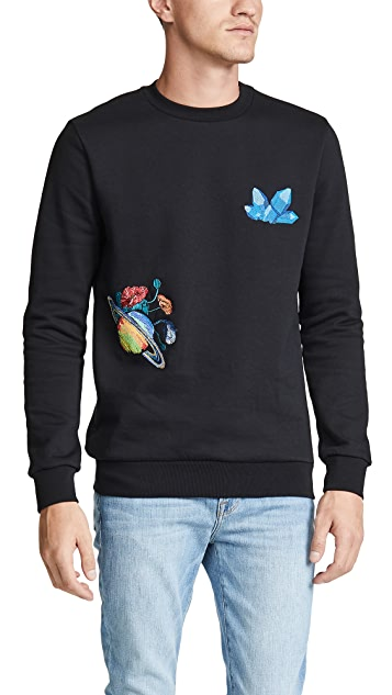 Paul Smith Sweatshirt With Crystals & Explorer Embroidery