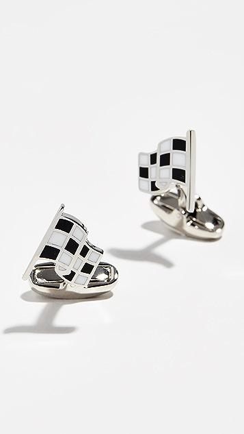 Paul Smith Checkered Flag Cufflinks