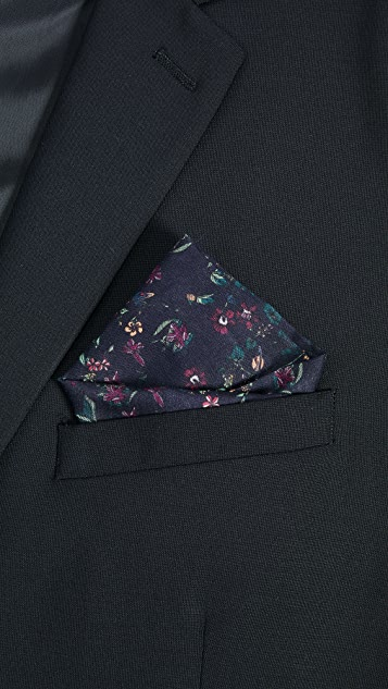 Paul Smith Explorer Floral Pocket Square
