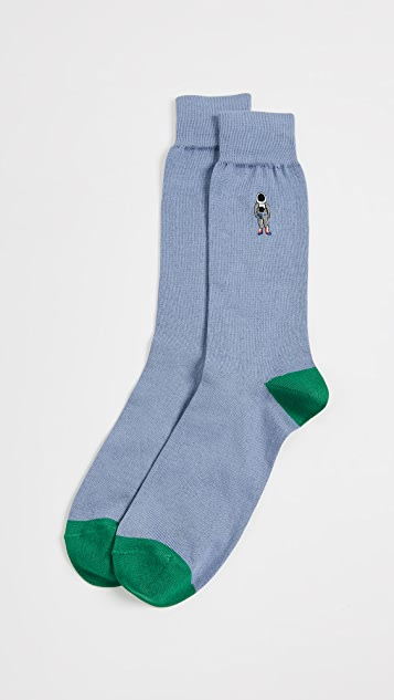 Paul Smith Embroidered People Socks