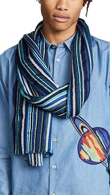 Paul Smith Multi Textured Scarf