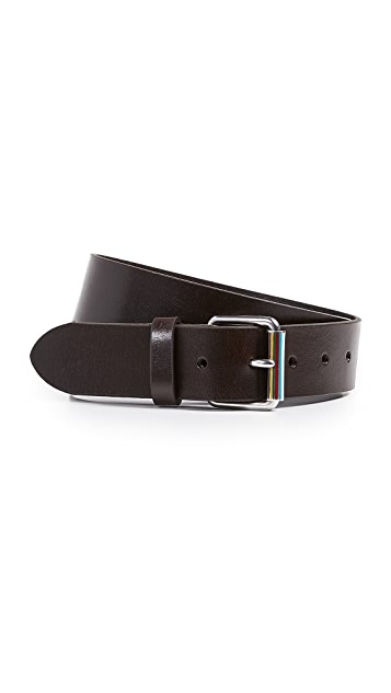 Paul Smith Enamel Roller Buckle Belt