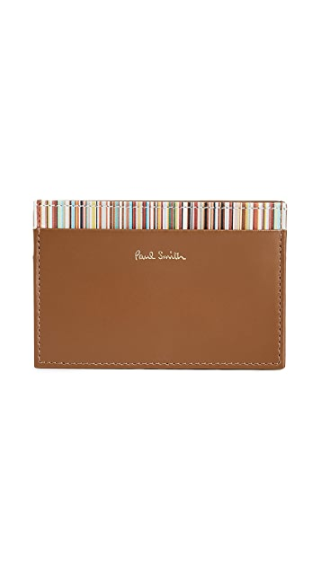 Paul Smith Interior Stripe Credit Card Case