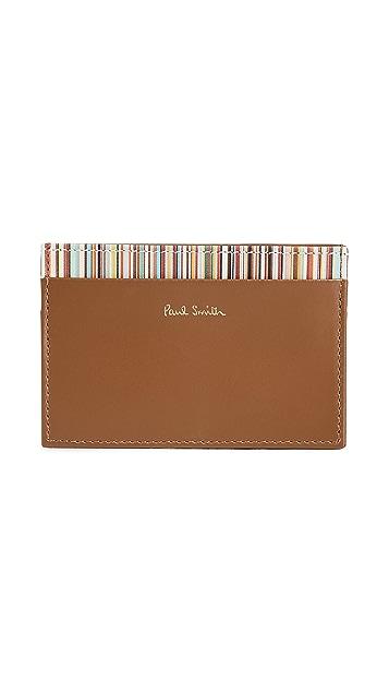 Paul Smith Interior Stripe Credit Card Case