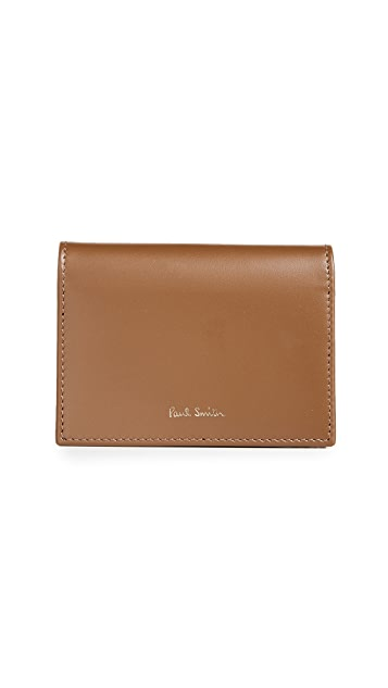 Paul Smith Interior Stripe Fold Over Credit Card Case
