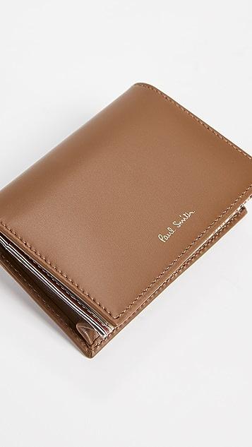 Paul Smith Interior Stripe Fold Over Credit Card Case