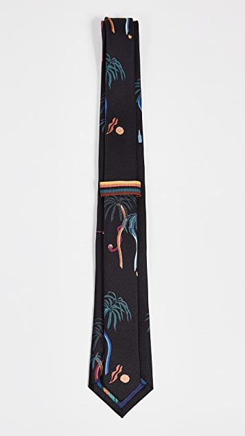 Paul Smith Narrow Abstract Palms Tie