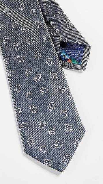 Paul Smith Narrow Rabbit Silk Tie