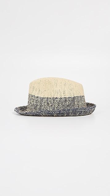 Paul Smith Two Tone Straw Trilby Hat